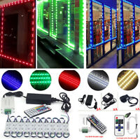 50~100FT 5050 SMD 3LED Module STORE FRONT Window Light Strip Remote Power Select