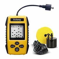 Portable Fish Finder Depth Wired Sonar LCD Display Ice Kayak Canoe Fishing