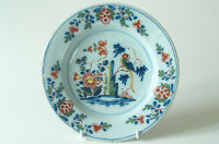 Fine quality Antique English Delft Polychrome plate c1765