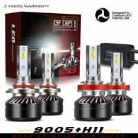 9005+H11 Combo LED Headlights High&Low Beam 6000K White 120W 12000LM PR71