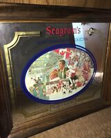 Seagram's Seven Crowns Of Sports Collection Bar Mirror Canada Russia 1972 Hockey