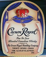 CROWN ROYAL Whiskey Wood Advertising Wall Sign 3-D Red Jeweled 18.5 x 14 Nice