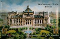 Reichstag Building Berlin Calendar Tin Sign 3D Embossed Tin Sign 20 x 30 CM