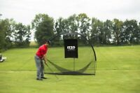 IZZO Golf Tri-Daddy Golf Hitting Net in Black Color,For Indoor or Outdoor Use