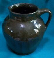 James Towne Collony Pottery C 1935 Virginia Pitcher Lustrous Olive Green Glaze