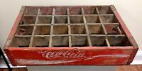 Red Wooden Coca-cola Classic Coke Crate Bottle Carrier Chattanooga 1971 B