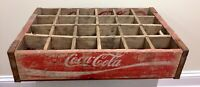 Red Wooden Coca-cola Classic Coke Crate Bottle Carrier Chattanooga 1970 G