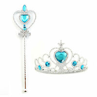 Kids Girl Queen Princess Cosplay Accessories Crown amp; Wand Halloween Party