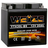 Weize YTX30L-BS ATV AGM Battery For POLARIS Sportsman Military 700CC 02-'08