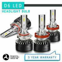 9005 H11 LED Headlights Kit High Low Beam 6000K Clear 120W 24000LM High Power