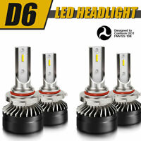 9005+9006 Combo LED Headlights High&Low Beam Upgrade 6000K White 60W 12000LM
