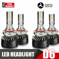 9005+9006 Combo LED Headlights High&Low Beam 6000K Clear White HID 120W 24000LM