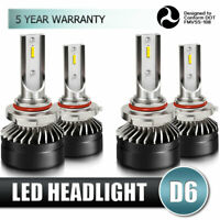 9005+9006 Combo LED Headlights Bulb High&Low Beam Performance 60W 6000K White
