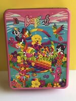 Lisa Frank Vintage 1990's Collectible Tin Easter Basket Kitten Puppy Bunny