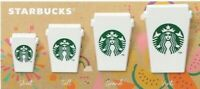 Starbucks JAPAN Paper Clip Cup Coffee Logo White Green Set 4 Small Summer 2019