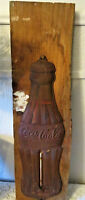 Rusty Antique Vintage Holiday Coca Cola Tin Sign Thermometer Christmas 1923 NICE