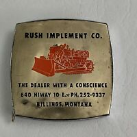 Vintage Advertising Massey ? Tape Measure Rush Implement Co Montana