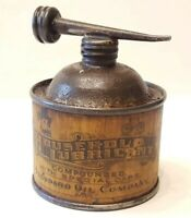 Vintage Antique Paper Label Cone Pewter Top Standard Oil Company Household Can