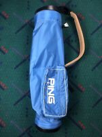 Vintage 1988 PING Lite Carry Golf Bag Blue VERY RARE Mint Condition Karsten