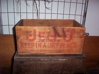 Vintage Wooden Jell-O Crate for 3 Dozen Packages antique wooden advertising box