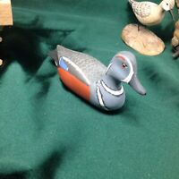 hand carved wood duck decoys by H.V Shourds