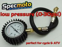 USA Shipped Pro Grade Low Pressure Tire Pressure Gauge 0-30psi ATV Motorcycle
