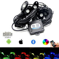 6Pod LED Off-road Rock Lights RGB Wireless Bluetooth Music Neon FOR ATV SUV Boat