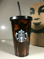 NWT Starbucks Grande Cold Cup Tumbler Tortoise Shell Brown 16 oz Insulated NEW
