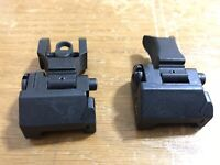 Troy Industries Folding Battle Sight Black Smith & Wesson M&P Marked 100% Auth..