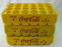 Lot of (3) RARE Coca-Cola PLASTIC PAKSTER ROUND HOLE COKE BOTTLE CRATE CARRIER