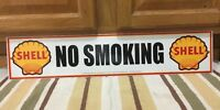 No Smoking Shell Gas Station Metal Sign Vintage Style Car Truck Oil Pump 2