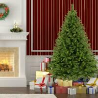 Tall Christmas Tree W/Stand Holiday Season Indoor Outdoor Green Festival 7.5 FT