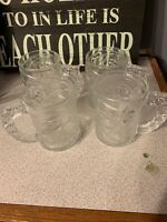 *4 SET* McDonalds BATMAN FOREVER Glass Mug Cup 1995 Vintage DC Comics
