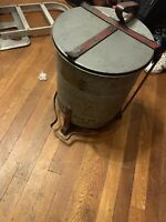 Antique Automotive Garage Oil Wast Can