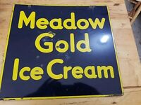 Meadow Gold DSP Porcelain Ice Cream Sign Dairy 17x18