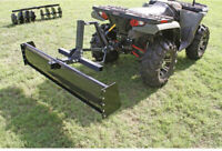 Plow Attachment Blade with Box Ends ATV/UTV Landscape Rake Dirt Moving Leveling