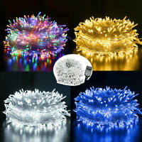 100 200 300 500 1000LED Outdoor Fairy String Lights Christmas Tree Wedding Decor