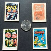 CRACKER JACK Vintage MINIATURE COMIC BOOKS LOT of 4. Exc. Cond. Free Shipping!
