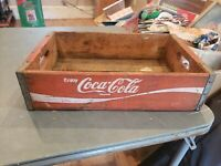 Collectible Vintage Coca Cola Wooden Soda Pop Crate Box Case 1977 Chattanooga
