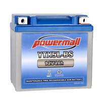 Powermall YTX5L-BS Battery Replace CTX5L-BS ATV Batteries For Yamaha Motorcycle