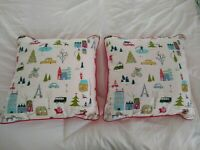 Set of 2 Opalhouse Red Holiday Christmas In The Square 18