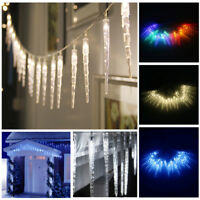 100 LED Frozen Icicle String Fairy Lights Indoor Outdoor Christmas Tree Lamps US