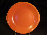 Paden City Pottery Caliente Shell Crest Coupe Soup Bowl Tangerine Red