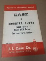Case Mounted Plows Eagle Hitch Operators Manual DB-1671