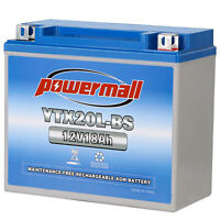 Powermall YTX20L-BS ETX20L Replacement Power Sport Yuasa YTX20L  ATV Battery