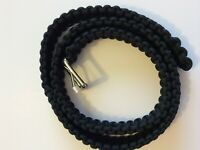 BELTS FANTASTIC PARACORD COLORS BLACK STRONG amp; BOLD ANY SIZE $36.50