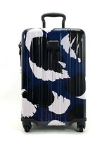 Tumi V3 Expandable International Carry-On Spinner Luggage Blue Black White Congo