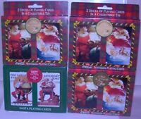 8 Coca Cola Norman Rockwell Santa Claus Playing Card Decks Lot