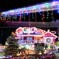 4M LED Curtains icicle Light Indoor/Outdoor Decorations Fairy Garden Patio Part