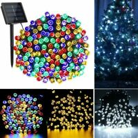 100 200 500LED Outdoor Solar Power String Light Garden Christmas Fairy Xmas Tree